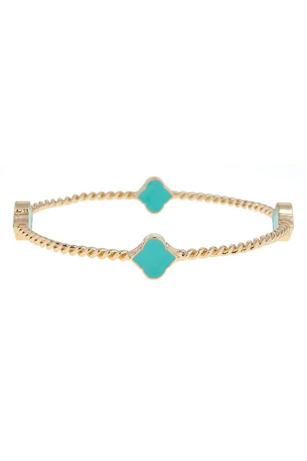 Fornash Rope Spade Bangle - Front Cropped Image