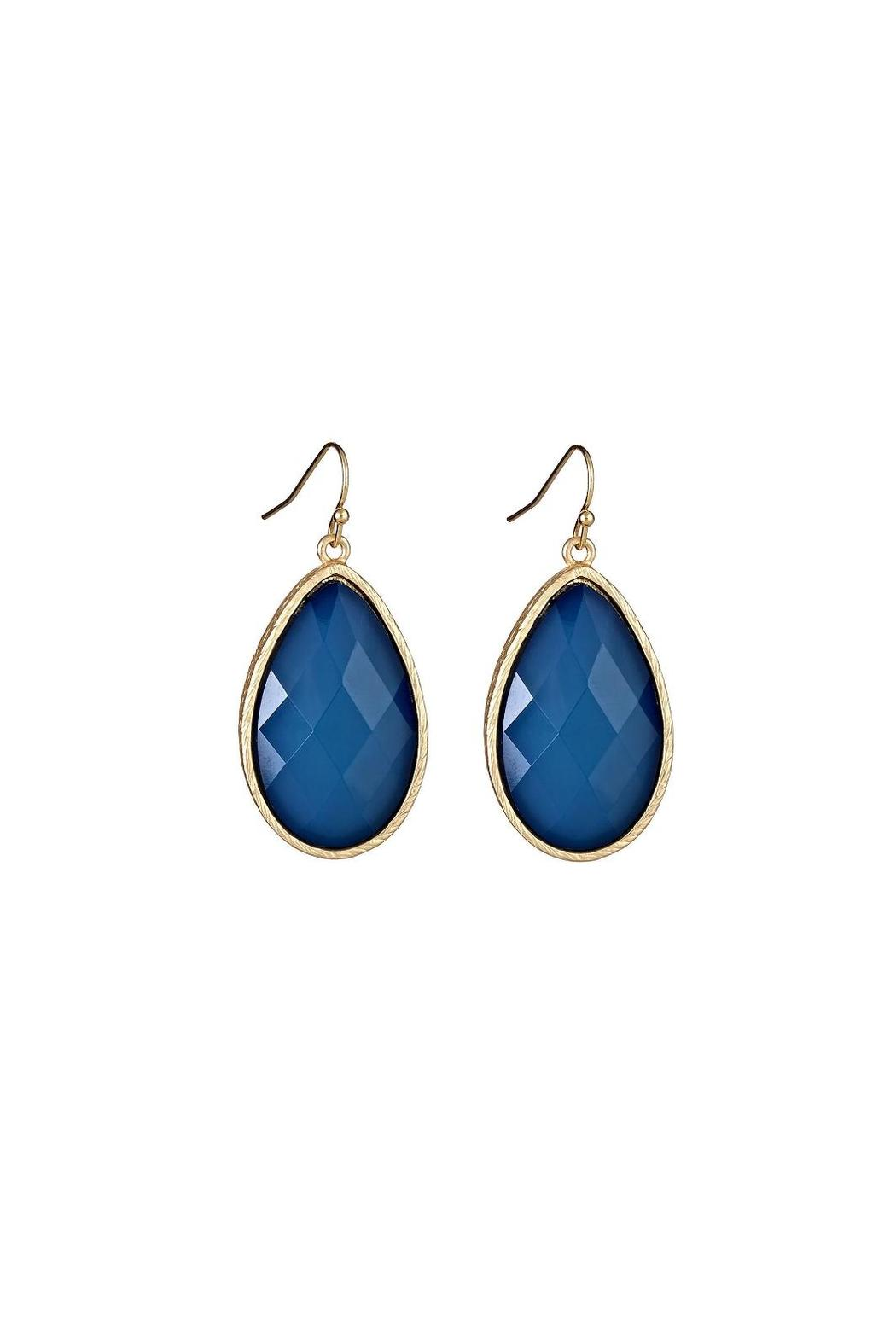 Fornash Sapphire Teardrop Earrings - Front Cropped Image