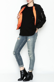 Fornia Black Bomber Jacket - Side cropped