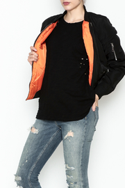 Fornia Black Bomber Jacket - Front cropped