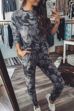 Fornia Marble Tie Dye Jogger Lounge Set - Product List Image