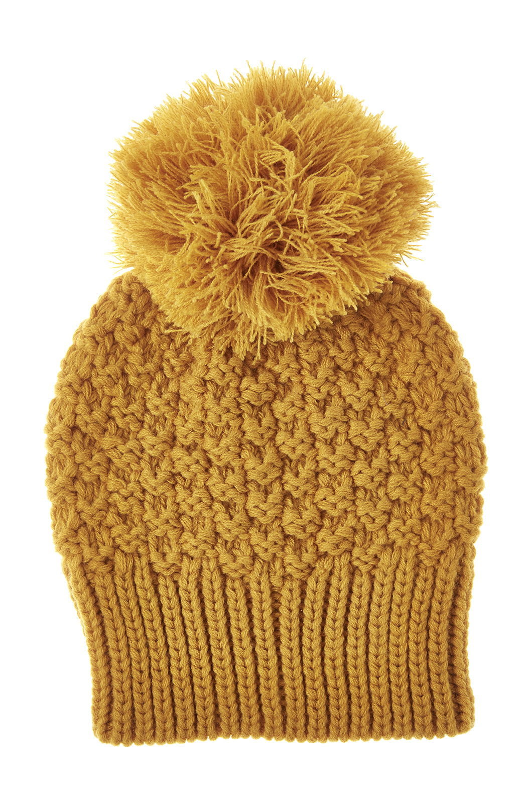 Fort Greene General Store Crochet Pom-Pom Hat - Front Cropped Image