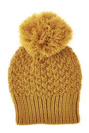 Fort Greene General Store Crochet Pom-Pom Hat - Front cropped