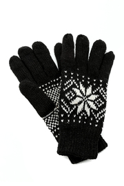 Fort Greene General Store Knit Snowflake Gloves - Front cropped