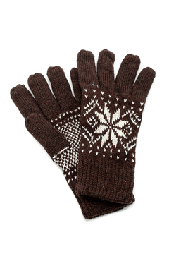 Shoptiques Product: Knit Snowflake Gloves