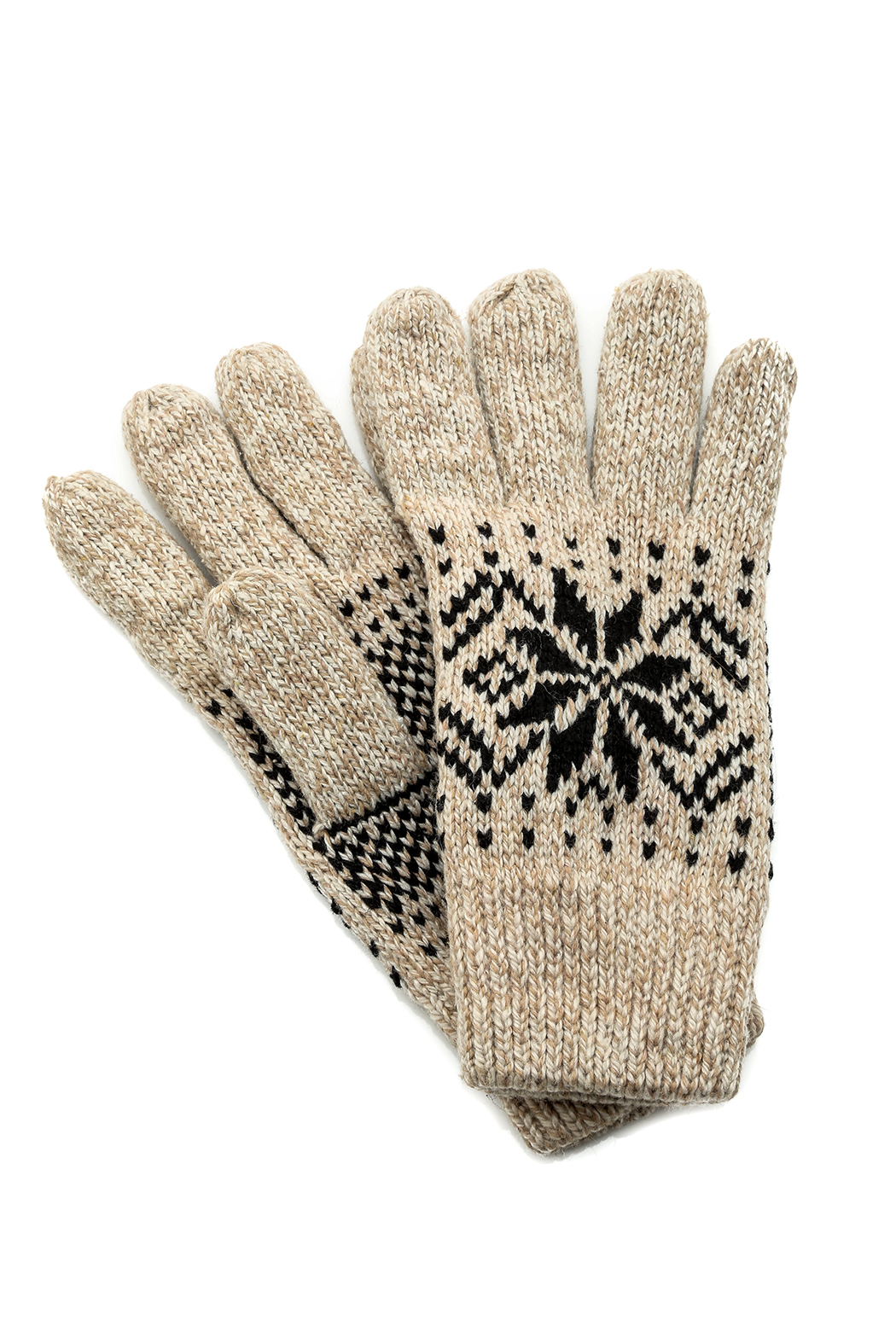 Fort Greene General Store Knit Snowflake Gloves - Front Cropped Image