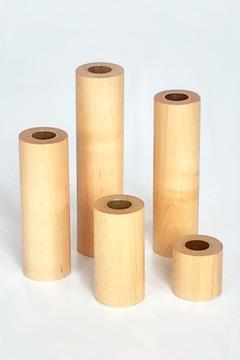 Fort Makers Wood Candlestick Holders - Product List Image