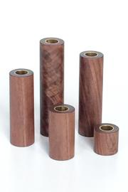 Fort Makers Wood Candlestick Holders - Product Mini Image