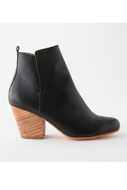 Fortress of Inca Black Leather Bootie - Front full body