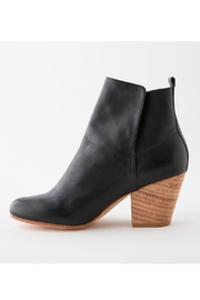 Fortress of Inca Black Leather Bootie - Front cropped