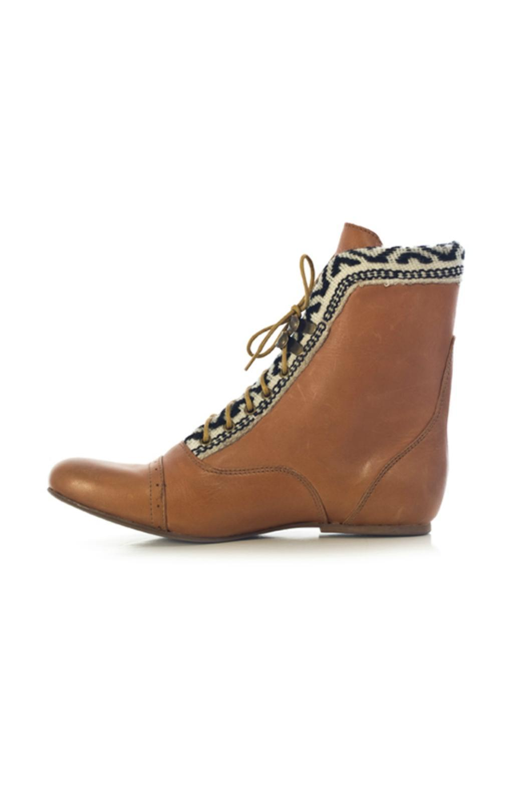 Fortress of Inca Brown Leather Bootie - Main Image