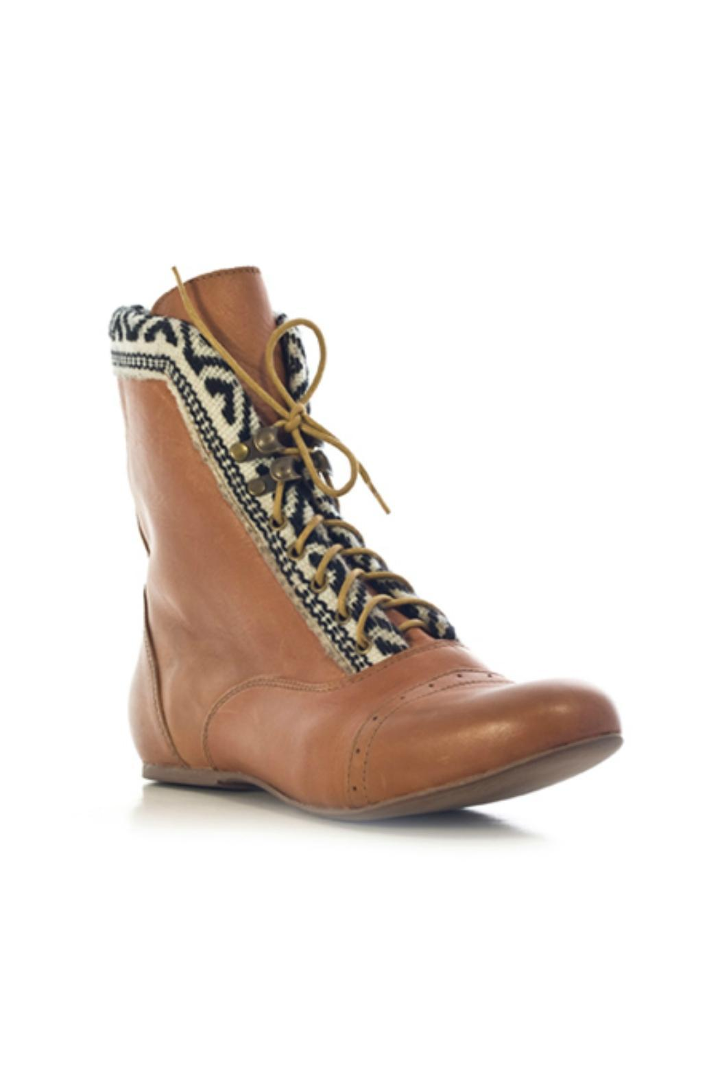 Fortress of Inca Brown Leather Bootie - Front Full Image