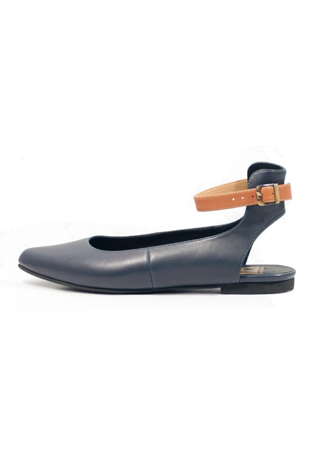 Fortress of Inca Navy Leather Flat - Main Image