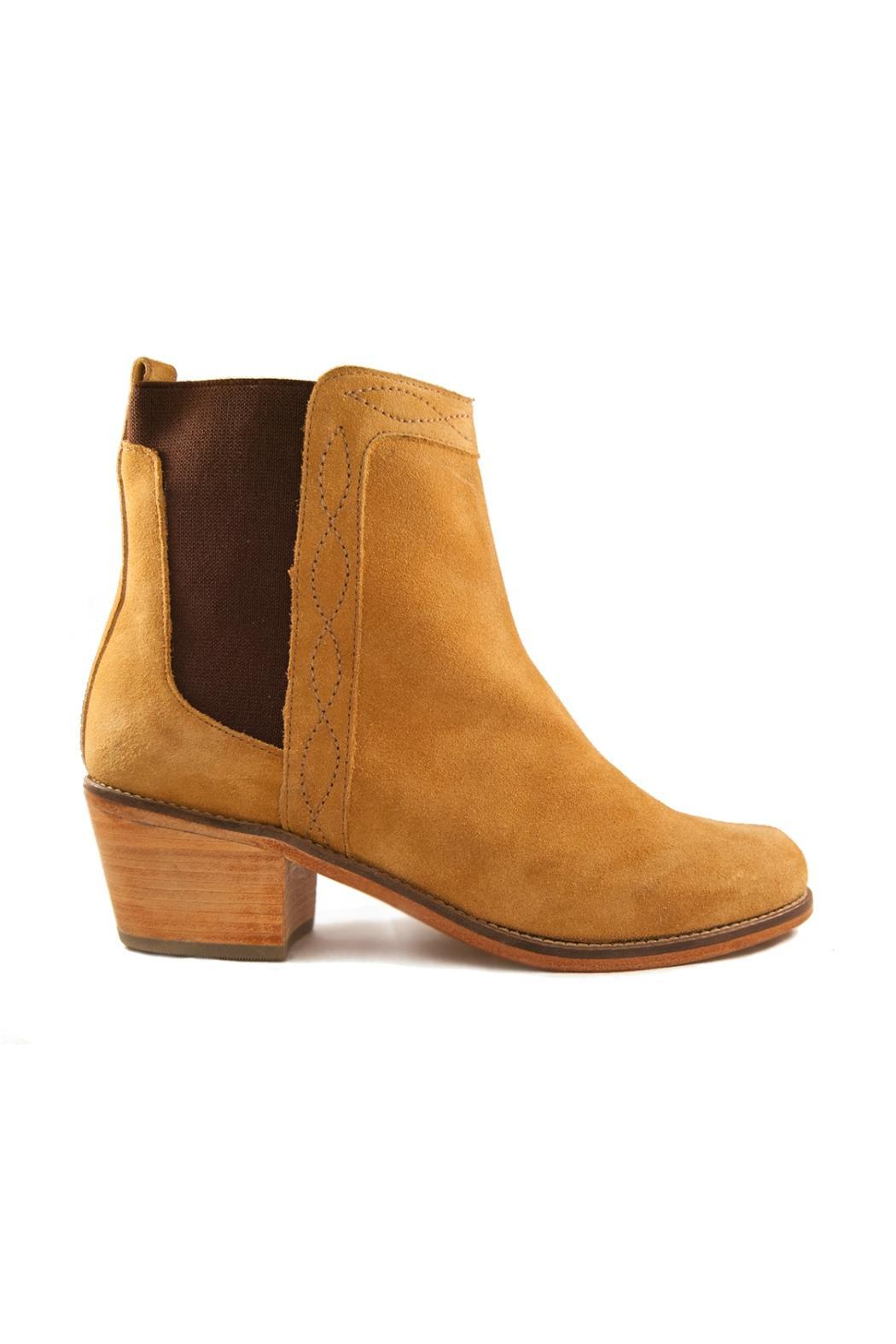 Fortress of Inca Handmade Suede Bootie - Front Full Image