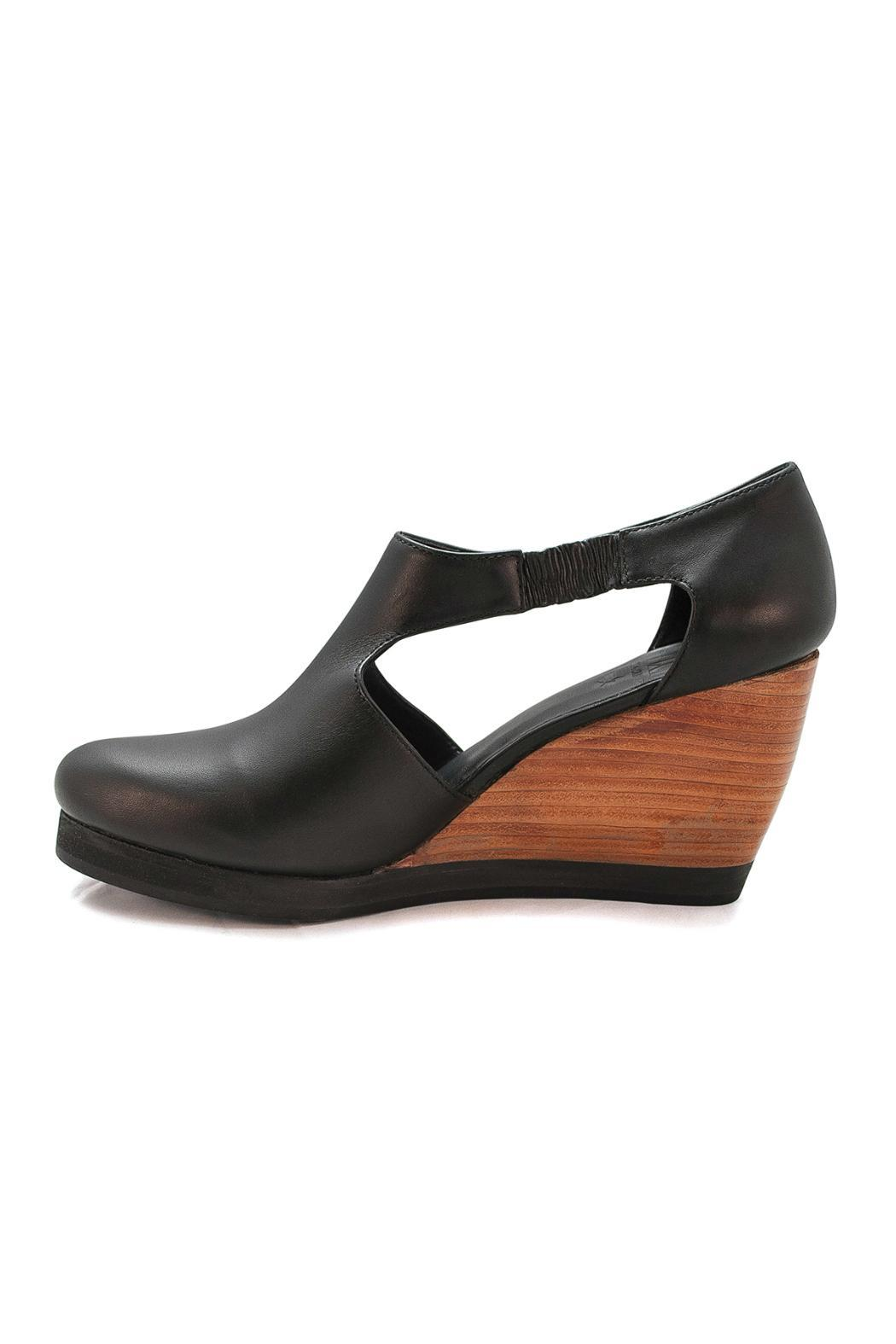 Fortress of Inca Black Leather Wedge - Main Image