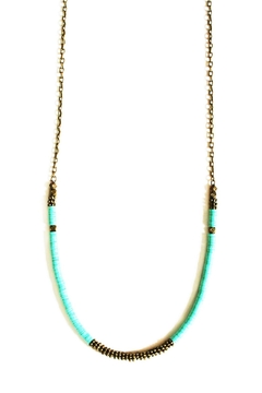 Fortune Aqua Brass Necklace - Product List Image