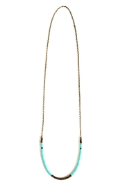 Fortune Aqua Brass Necklace - Back cropped