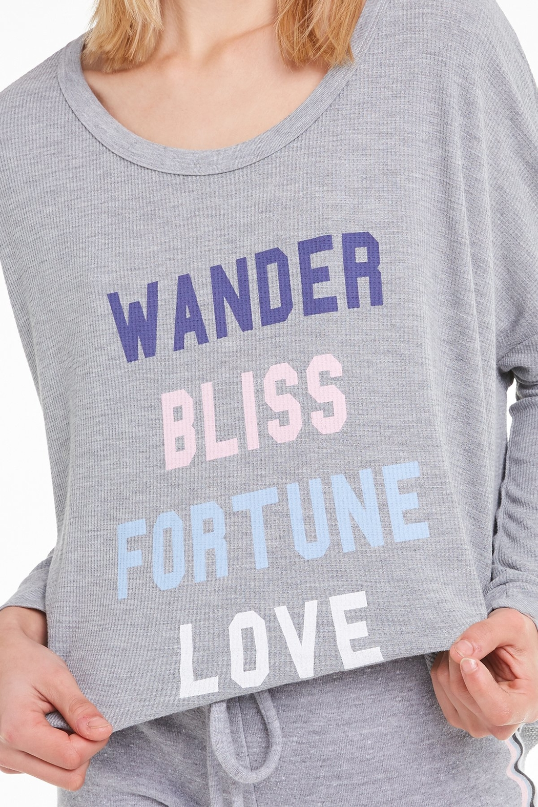 Wildfox Fortune Love Thermal Top - Back Cropped Image