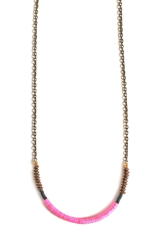 Fortune Pink Brass Necklace - Product List Image