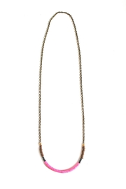 Fortune Pink Brass Necklace - Front full body