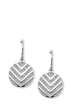 Fossil Chevron Drop Earrings - Product List Image