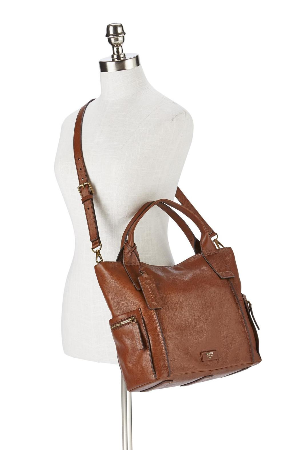 Fossil Sydney Satchel Zigzag Zb 5490200 Brown Coklat Daftar Harga Emerson In Seaglass Back Cropped Image