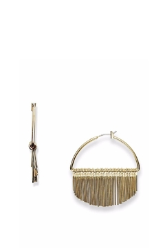 Shoptiques Product: Fringe Hoop Earrings