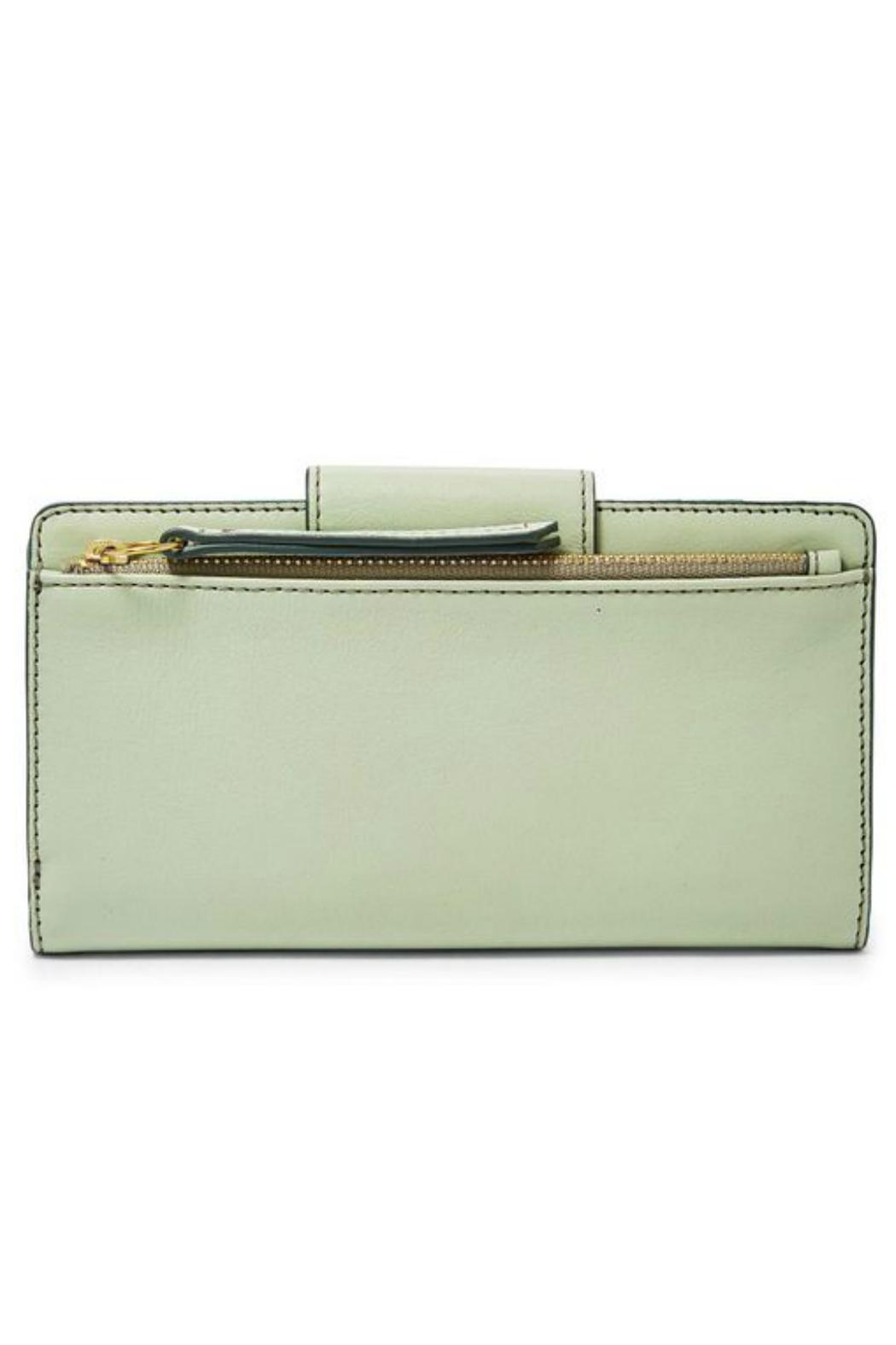 Fossil Leather Rfid Emma Clutch - Front Full Image
