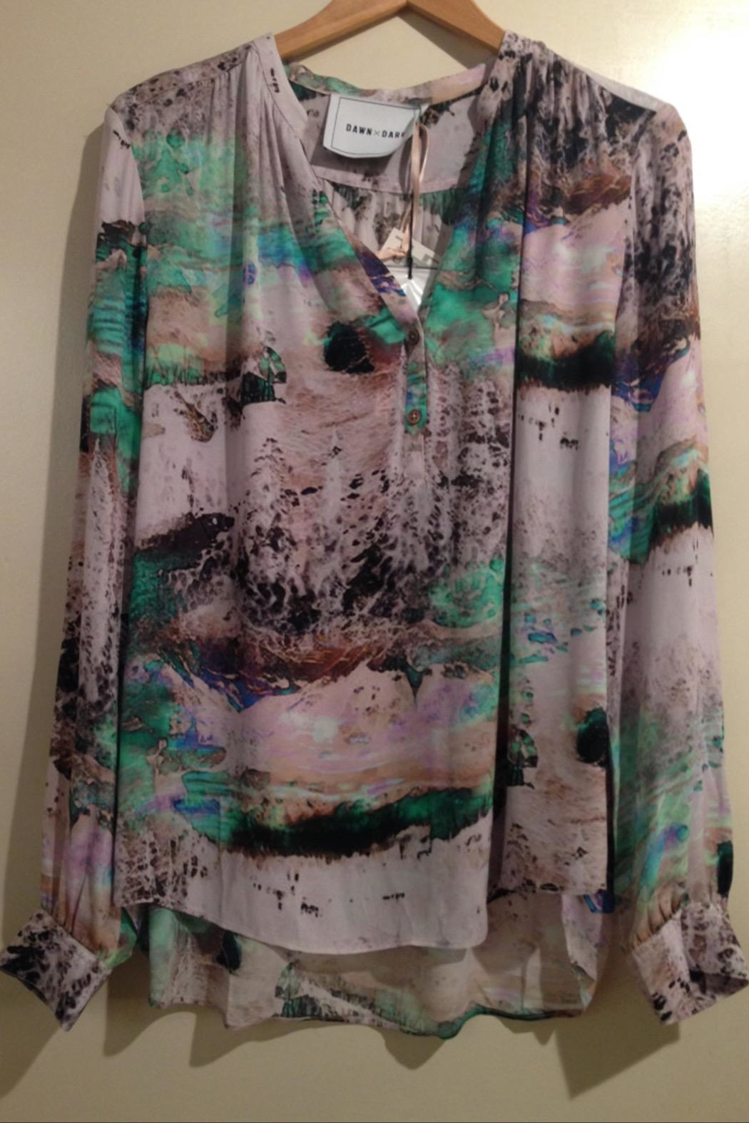 Dawn x Dare Fotoprinted Blouse - Side Cropped Image