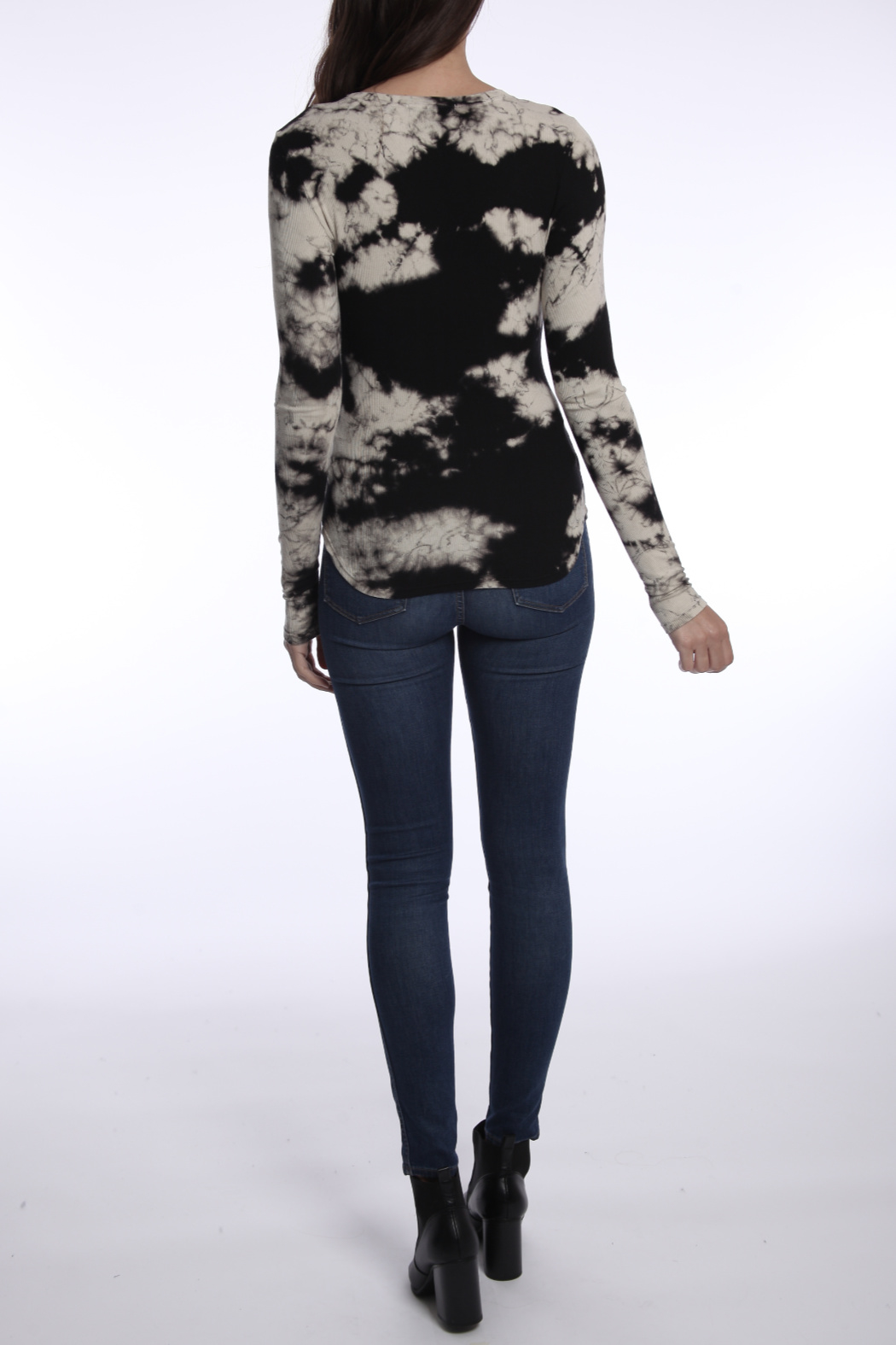 River + Sky  Found Love Ribbed Tie Dye L/S Top - Front Full Image