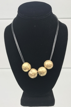 Customrags Four brass balls on leather - Product List Image