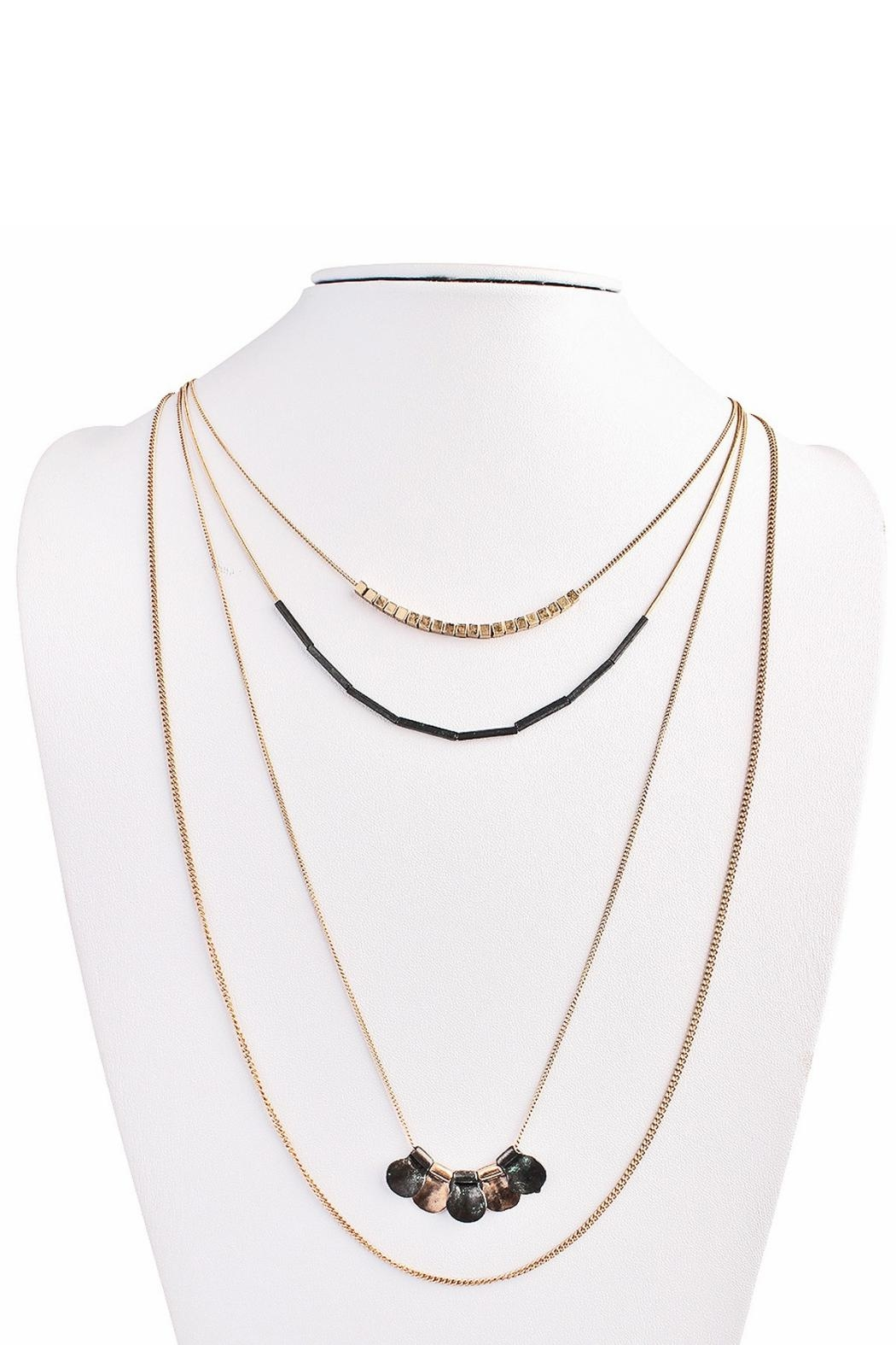 MS Accessories Four Layered Necklace - Main Image