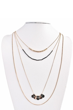 MS Accessories Four Layered Necklace - Alternate List Image
