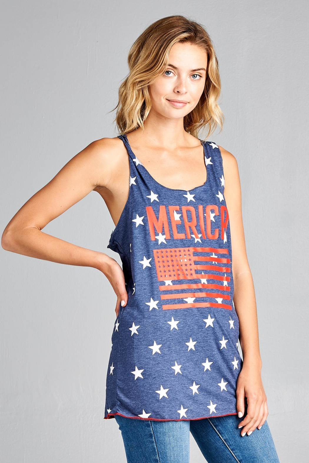 Racine Fourth-Of-July Tank-Top - Side Cropped Image