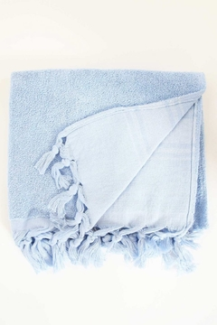 Shoptiques Product: FOUTA BODY TOWEL - LIGHT TERRY CANVAS (SERENITY BLUE)