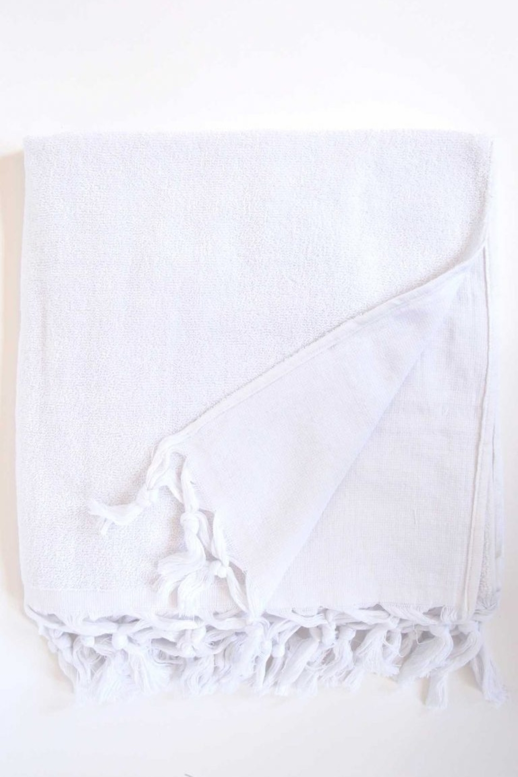 The Birds Nest FOUTA BODY TOWEL - LIGHT TERRY CANVAS (WHITE) - Main Image