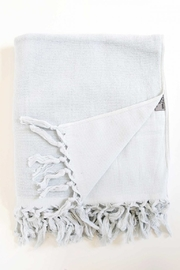 The Birds Nest FOUTA BODY TOWEL - LIGHT TERRY CANVAS (WHITE) - Front cropped