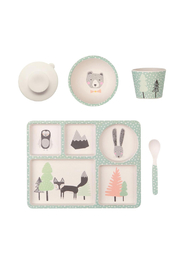 Love Mae Fox and Friends Divided Plate Set - Product Mini Image