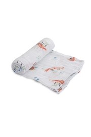 Little Unicorn Fox Cotton Swaddle - Product Mini Image