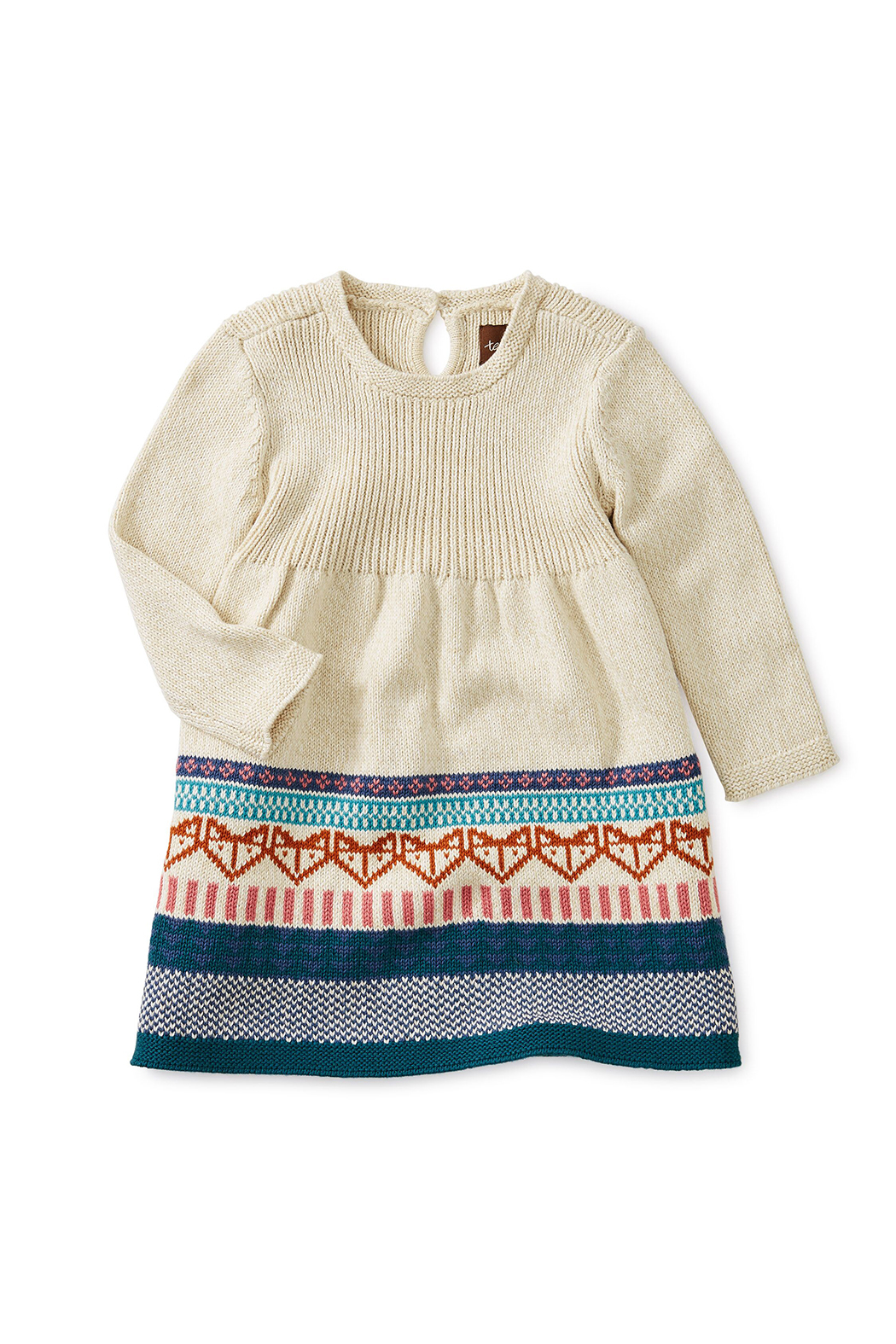 Tea Collection Fox Fairisle Baby Sweater Dress - Main Image
