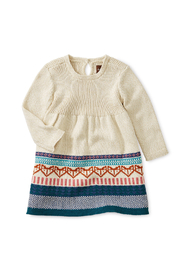Tea Collection Fox Fairisle Baby Sweater Dress - Front cropped