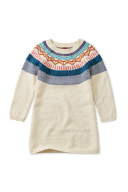 Tea Collection Fox Fairisle Sweater Dress - Front cropped