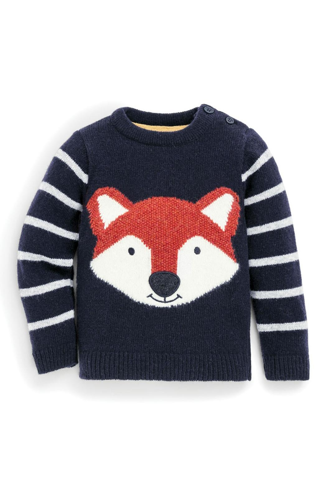 JoJo Maman Bebe Fox Lambswool Sweater - Front Cropped Image
