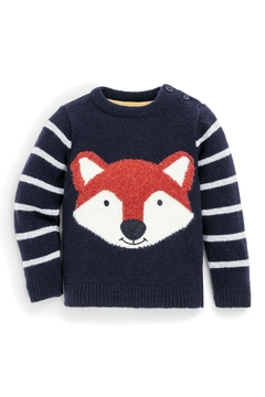JoJo Maman Bebe Fox Lambswool Sweater - Alternate List Image