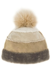 Mitchies Matching Fox-Pom Shearling Hat - Product Mini Image