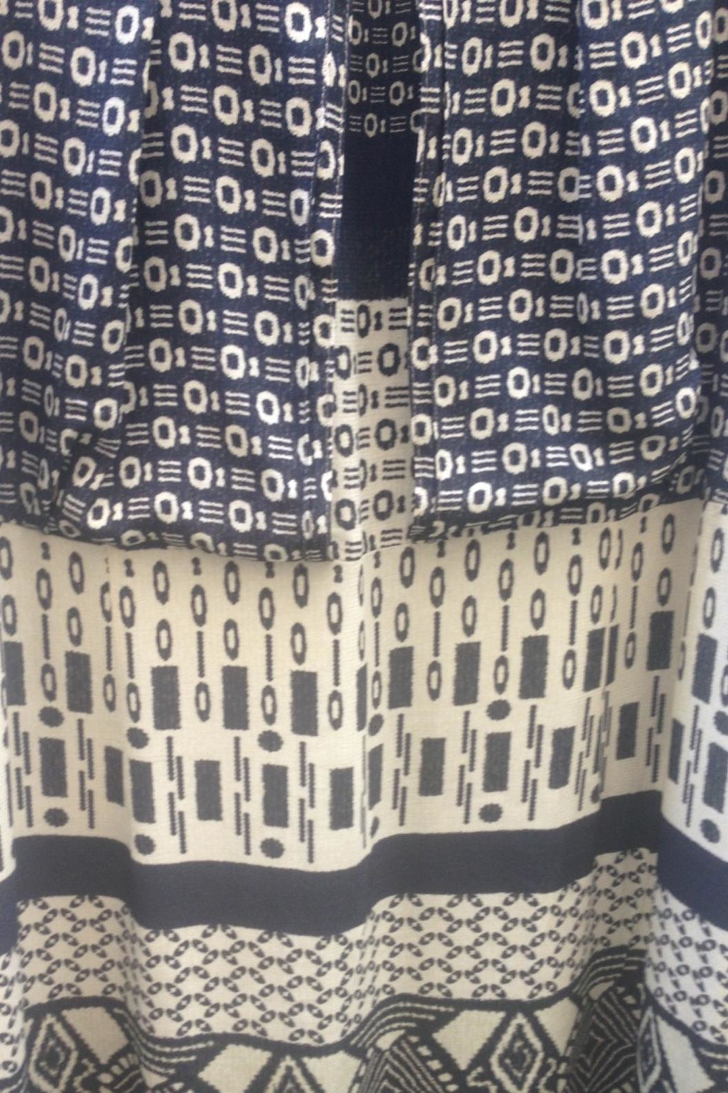 Fox's Graphic Pattern Dress - Front Full Image