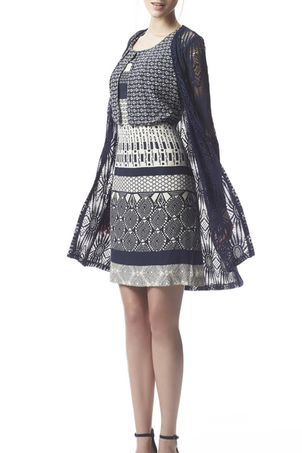 Fox's Graphic Pattern Dress - Side Cropped Image