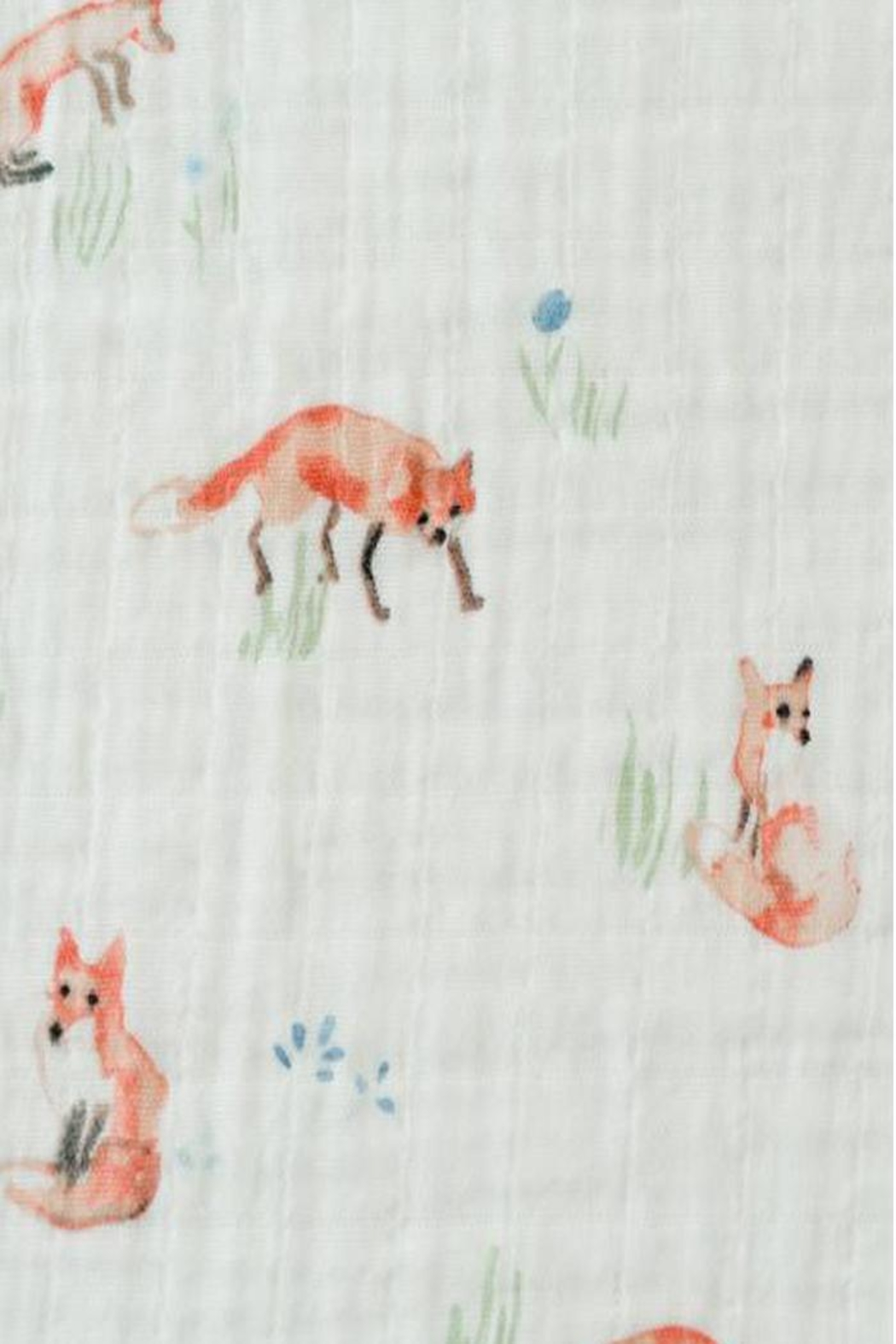Little Unicorn Fox Swaddle Blanket - Side Cropped Image