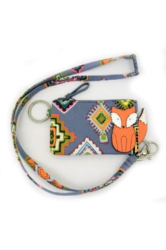 Shoptiques Product: Fox Zip-Id/lanyard Set