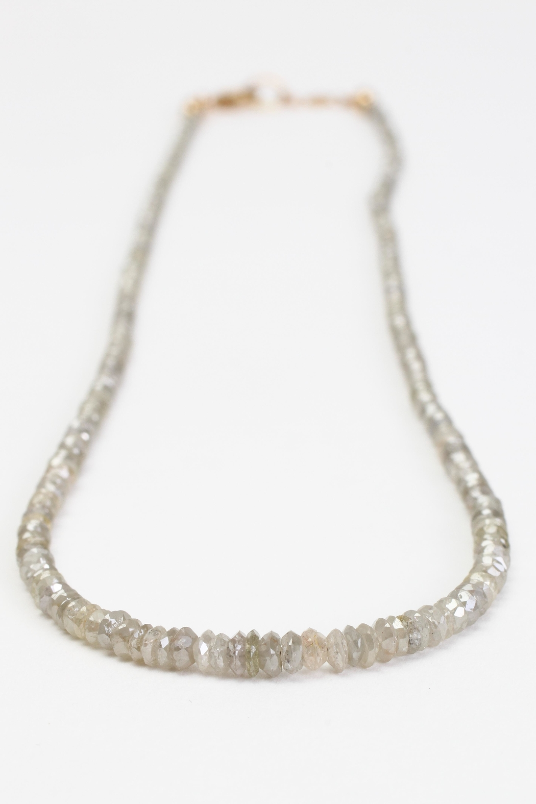 Fox and Beaux Champagne Diamond Necklace - Front Full Image